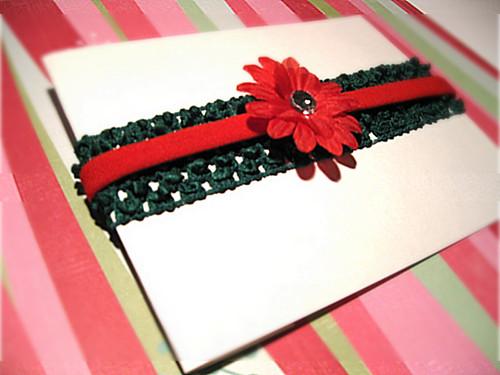 Christmas/Holiday Green Baby Crochet Headband - $8.00