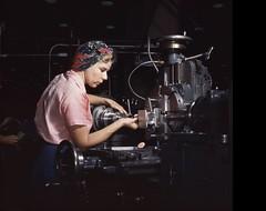 1a35355u - Woman Machinist, Douglas Aircraft Company, Long Beach, Calif. (kocojim) Tags: aircraft wwii production loc libraryofcongress americanmemory kocojim womenworkers douglasaircraft