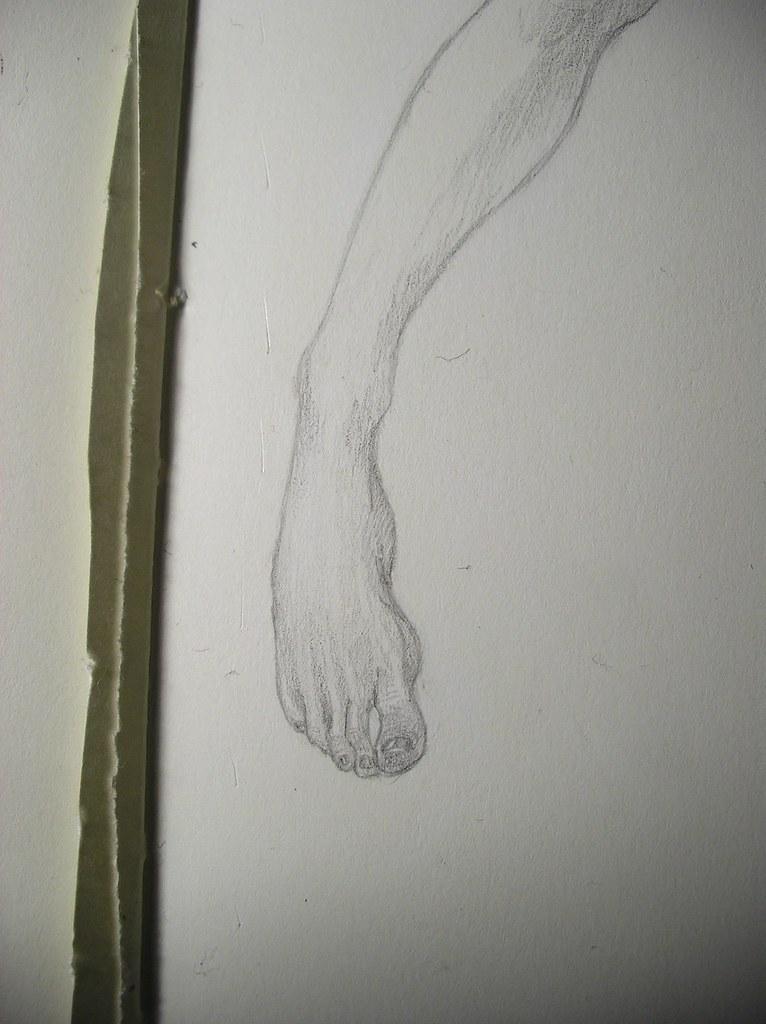 Foot detail.