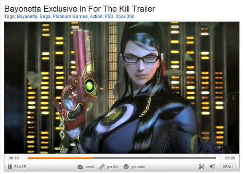 For the Kill Bayonetta Trailer on 1up!