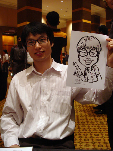 Caricature live sketching for Hitachi Plant Technologies D&D 2009 - 6