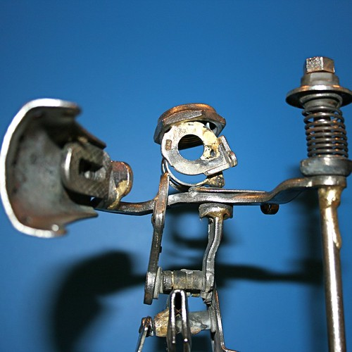 Bicycle part mount and rider sculpture