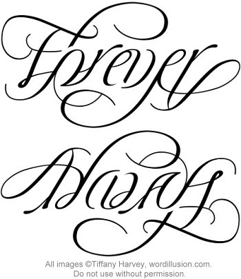 ambigram tattoos. A custom ambigram of the words
