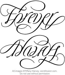"""Forever"" & ""Always"" Ambigram"
