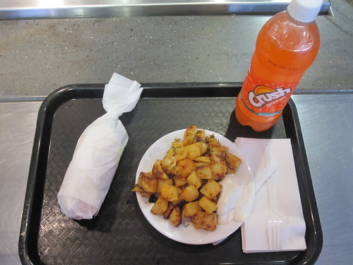 Shish taouk sandwich, garlic potato, Orange Crush - $12 including tip