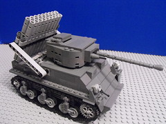 T-44 Sherman Calliope Mobile Artillery Tank (PizzaMovies Productions (PMP)) Tags: army lego contest wars clone entry builder brickarms babc pizzamovies