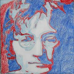 John Lennon (redsummersun) Tags: music color wall john mural harrison drawing beatles lennon ringo obama mccartney starr obamicon