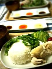 2009年最後のランチは海南鶏飯でした