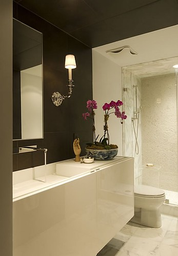 Huntley & Co glamorous contemporary bathroom via Houzz