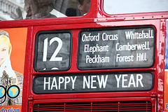 Happy New Year (gracust) Tags: elephant bus london capital transport foresthill whitehall oxfordcircus peckham camberwell happynewyear 2010 number12 redbus
