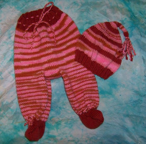 footies with hat, size small