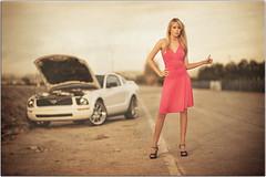 Need a Lift? (Extra Medium) Tags: ocean ford alex girl female rural model highheels dress malibu pch blond hitchhiker mustang camarillo stranded 85mmf14d brokendowncar 85mm14d ifyoufavethisshotandhaveallwomeninyourfavesyouwillbeblockedandreported