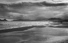 florianopolis beach (Paul the silent) Tags: sea summer blackandwhite black praia beach clouds contrast nuvole mare estate withe florianopolis spiaggia biancoenero joaquina contrasto dasviluppare