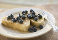 Blueberry french toast...{10/365} (ImagesByClaire) Tags: fruit 50mm fork frenchtoast homemade honey blueberries antioxidants project365 sundaymorningbreakfast breaktfast ittastedevenbetterthanitlooks