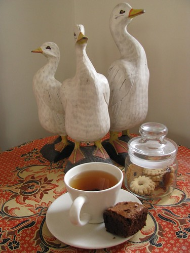 (re-posting) afternoon tea with the ducks