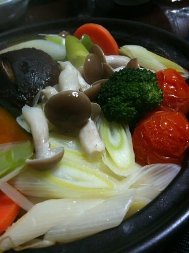 ダジン鍋で温野菜