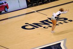 Xavier basketball (thadd) Tags: ohio basketball fun nikon university cincinnati fordham center xavier cheerleader hoops tumbling rout muskateers cintas 10860 tehhawtness d3000 sparklybloomers