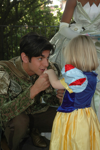 A kiss from Prince Naveen