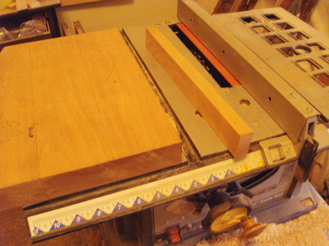 Slicing off some Mahogany for Hinge making