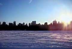 Loneliness in Sunset (sam_alcaphone) Tags: nyc sunset sky snow love loneliness aa    samalcaphone