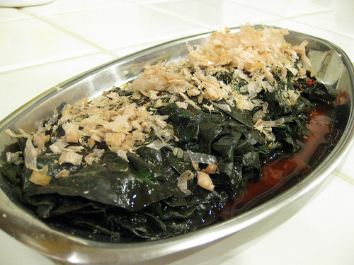 Simmered Swiss Chard in Dashi