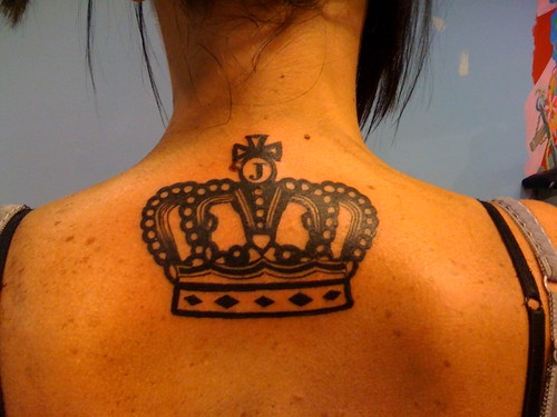crown tattoos. Juicy Couture Crown Tattoo by