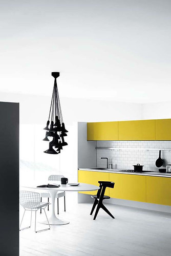 Minimalist kitchen interior ideas for single line