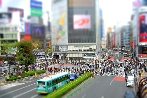 tilt shift Shibuya Tokyo