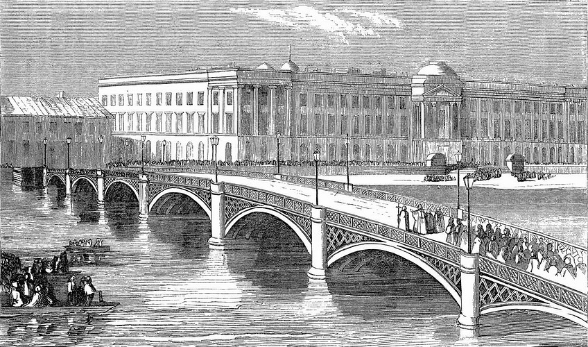 IRON BRIDGE ACROSS THE NEVA_новый размер
