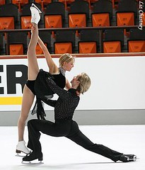 Chrissy and Mark during a Practice Session at the 2009 Nebelhorn Trophy in Oberstdorf, Germany. (Photo by Liz Chastney)