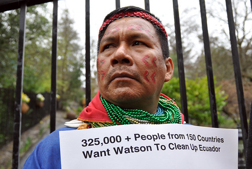Emergildo Criollo Petition Delivery to Chevron