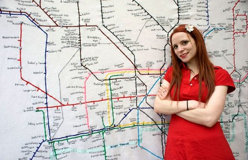 Lucy Sparrow & Tube Map Tapestry