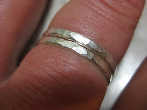 hammered sterling silver rings