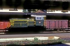 245 6022  Udine  07.09.85 (w. + h. brutzer) Tags: italien analog train nikon italia eisenbahn railway zug trains locomotive fs lokomotive udine 245 diesellok eisenbahnen dieselloks webru