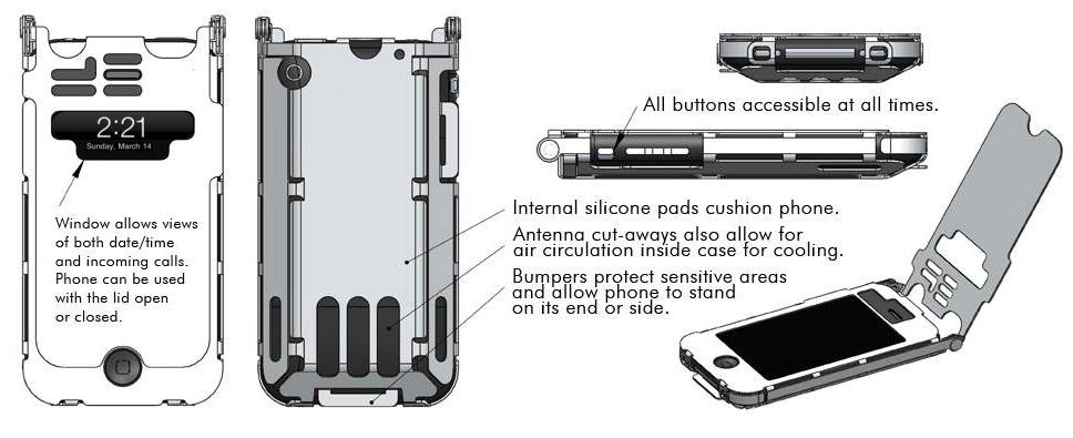 Steel iPhone Case Drawings