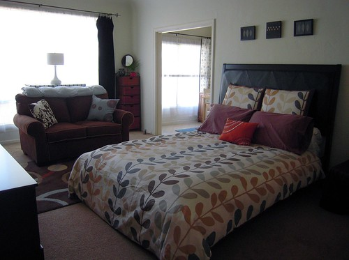 Apartment Redecorating 2010 - Bed & Loveseat