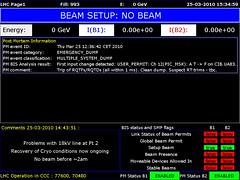 LHC1 2010/03/25 14:35:00 (LHC logs) Tags: tree cakes tooth energy large logs beam cern physics op clive lhc accelerator proton higgs collider lhc1 clivetooth hadron vistars lhc3 treecakes
