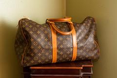 Louis Vuitton Keepall 45 (tarastarphotography) Tags: travel vintage louis 45 luggage purse vuitton louisvuitton keepall