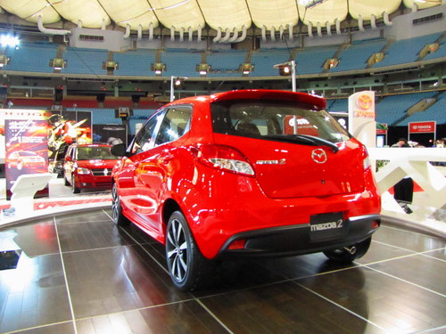 Mazda 2 subcompact at Vancouver International Auto Show