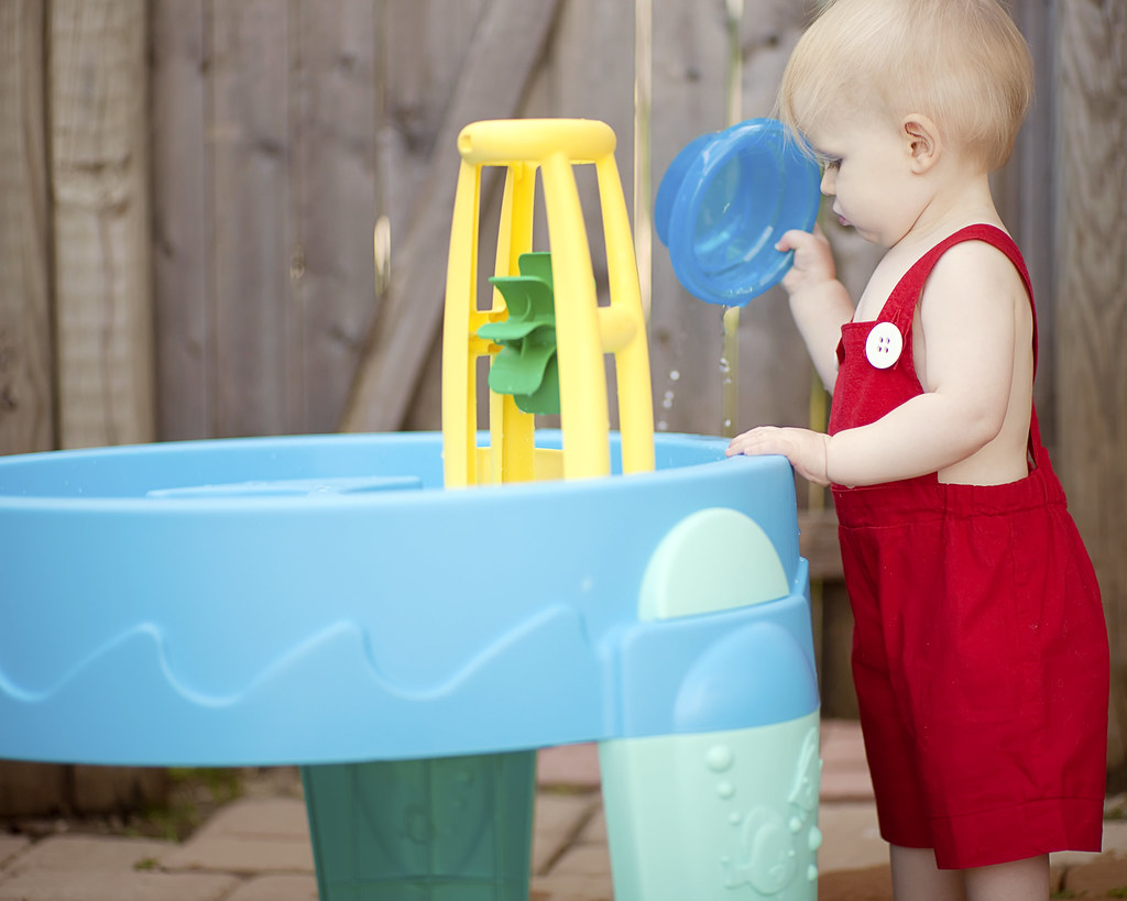 water table fun... outside.