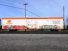 sicks - gs - harsh (H.R. Paperstacks) Tags: streetart art graffiti paint steel painted graf sicks spraypaint graff aerosol six gs harsh freights spraypainted benching