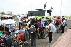 Bhasker _1A loading the bus at Bhuj Airport