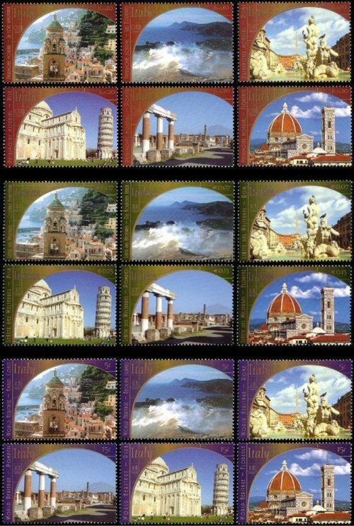 2002 UNESCO - ONU 3 uffici - serie 6 valori da libretto