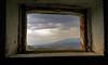 View from the crumbling barn's window - Vista dalla finestra del fienile diroccato (Robyn Hooz) Tags: light ex window clouds canon nuvole sigma hills finestra frame polarizer 1020 luce colline cornice temporale fienile veneto mattoni conegliano prealpi granaio polarizzatore hsm mywinners 1000d