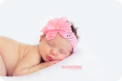 .kissy face. {explored} (*miss*leah*) Tags: flower nikon kiss kissing lips explore babygirl newborn asleep frontpage headband sleepingbaby nikond700 leahhoskins
