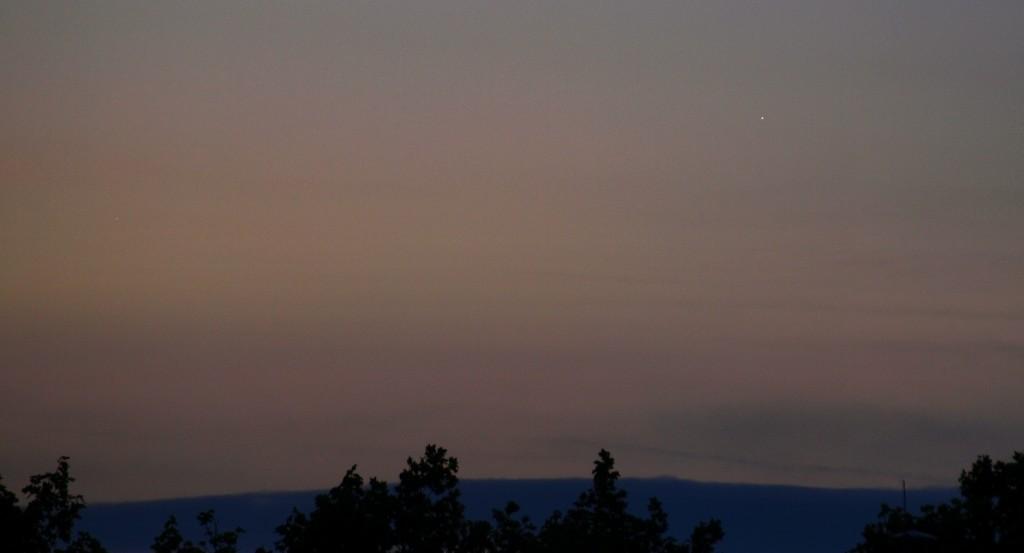 Venus und Jupiter, 8.Mai 2011, 5:14 MESZ