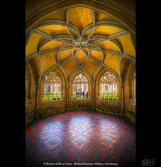 A Room with a View - Bebenhausen Abbey, Germany (HDR) (farbspiel) Tags: history abbey photoshop germany logo geotagged religious nikon religion historic monastery handheld dri deu hdr watermark hdri topaz tbingen adjust superwideangle bebenhausen 10mm postprocessing badenwrttemberg ultrawideangle photomatix wasserzeichen tonemapped tonemapping denoise watermarking detailenhancer d7000 sigma1020mmf35exdchsm geo:lat=4856125808 geo:lon=906035185