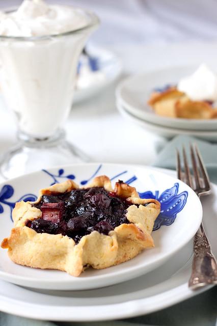 Blueberry-Rhubarb Tarts