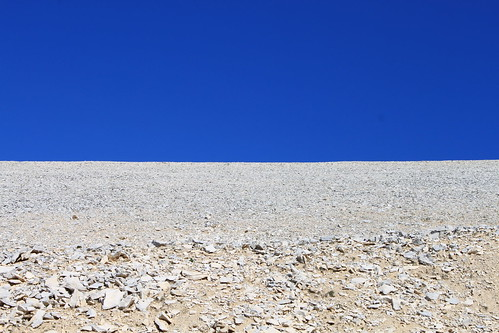 A deceptive shot of Ventoux's moonscape – there's nothing flat about climbing Ventoux . Photo: Niamh Sage