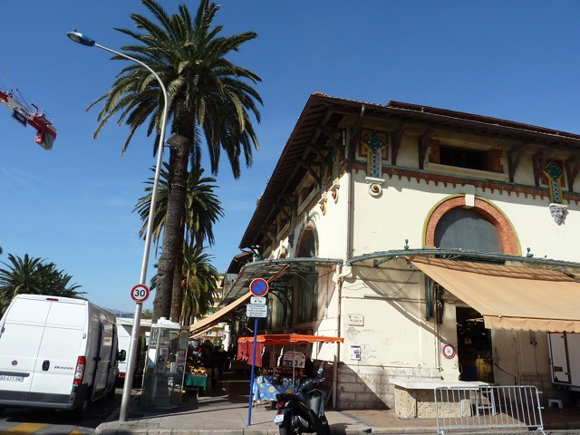 The old covered market in Menton, France